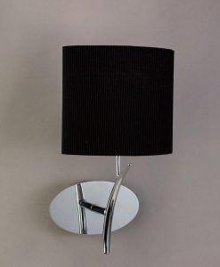 Aplique cromo negro 1 luz EVE