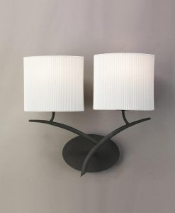 Aplique gris blanco 2 luces EVE