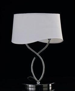 Sobremesa cromo blanco grande 2 luces NINETTE