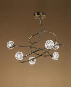 Lámpara cuero 6 luces MAREMAGNUM