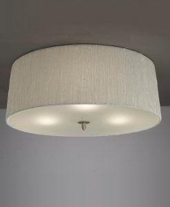 Plafón blanco níquel LUA 3 luces