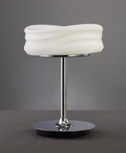 Sobremesa pequeña MEDITERRANEO cromo/cristal opal
