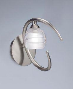 Aplique níquel pequeño LOOP 1 luz