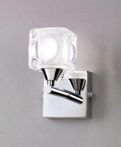Aplique pequeño cromo CUADRAX 1 luz