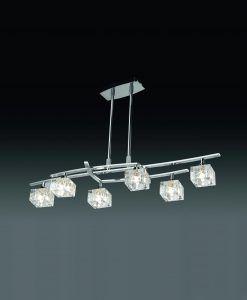 Lámpara pequeña cromo ZEN 6 luces