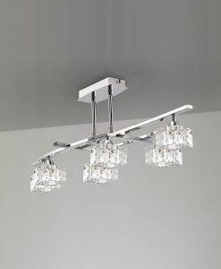 Plafón mediano cromo ZEN 6 luces