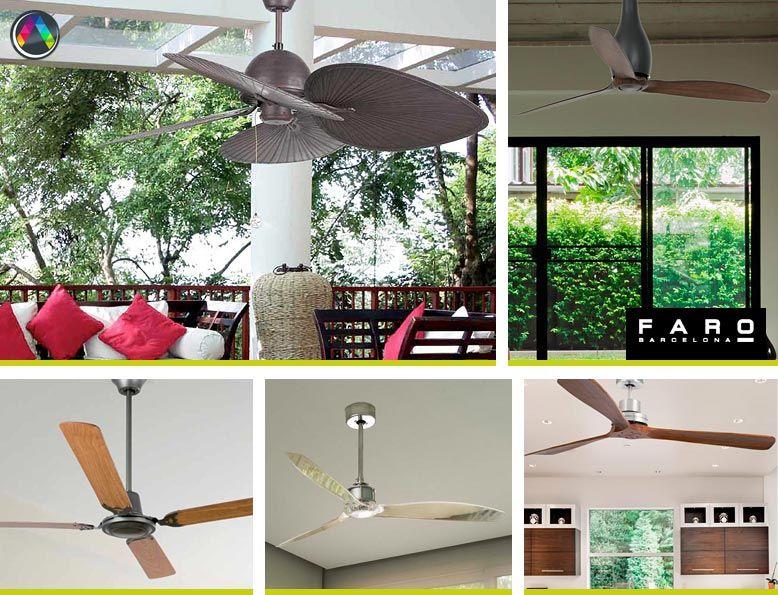 Ventiladores de techo sin luz - La Casa de la Lámpara
