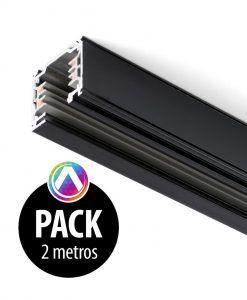 Carril negro para proyector 2m - Pack