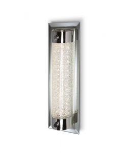 Aplique plafón LED pequeño TUBE cromo cristal