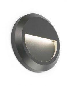 Aplique circular GRANT gris oscuro