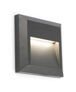 Aplique cuadrado GRANT gris oscuro