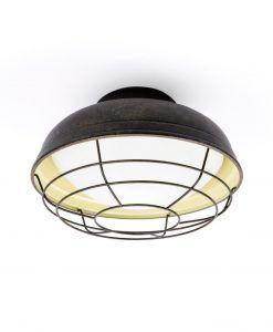 Lámpara plafón exterior marrón óxido HELMET
