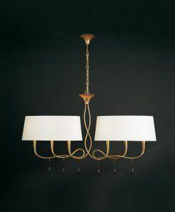 Lámpara de techo blanco crema y dorado PAOLA