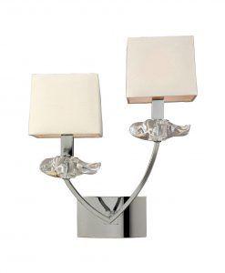 Aplique pared sofisticado 2 luces AKIRA