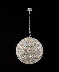 Luminaria cristales 9 luces CRYSTAL BALLS