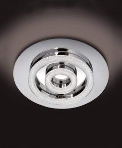Plafón cromo cristal diamante SATURNO LED