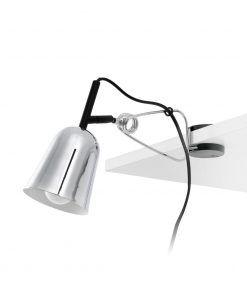 Flexo soporte pinza cromo y blanco STUDIO