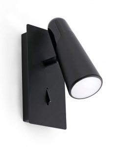 Aplique de diseño minimalista negro LAO LED