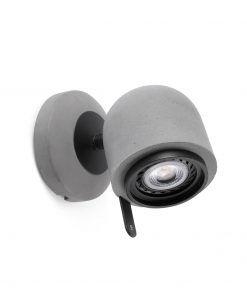 Lámpara aplique gris piedra STONE-1