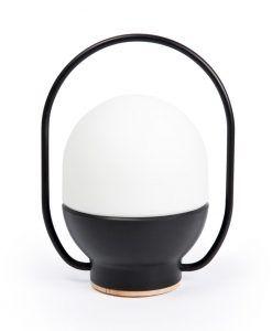 Lámpara portátil recargable negra TAKE AWAY LED