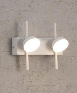 Aplique dos luces blanco ADN LED