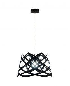 Lámpara de techo 45 cm diámetro RUT negra