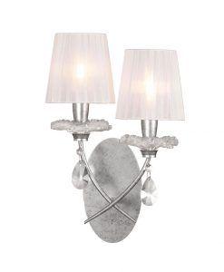 Aplique 2 luces plata SOPHIE