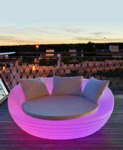 Cama balinesa con luz 164 cm diámetro FORMENTERA