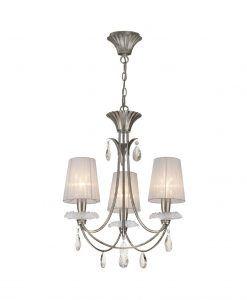 Lámpara colgante 3 luces plata SOPHIE