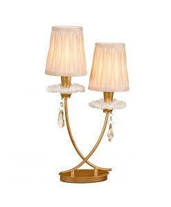 Lámpara de mesa 2 luces dorado SOPHIE