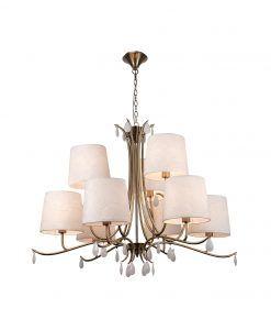 Lámpara de techo 9 luces cuero satinado ANDREA
