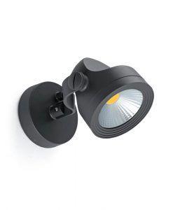 Aplique luz neutra gris oscuro ALFA LED