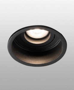 Empotrable negro redondo orientable HYDE