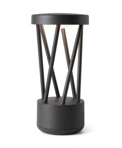Lámpara sobremuro gris oscuro TWIST LED