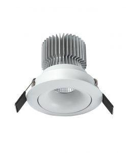 Empotrable LED luz cálida 12W 10,7 cm Ø FORMENTERA