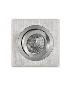 Ojo de buey cuadrado 9,2 cm aluminio BASICO GU10