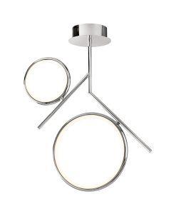 Semiplafón dos aros cromo OLIMPIA LED