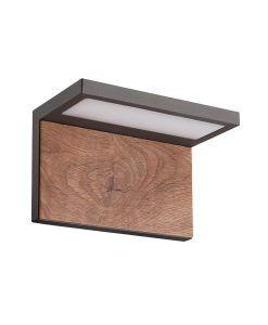 Aplique gris oscuro y madera RUKA LED