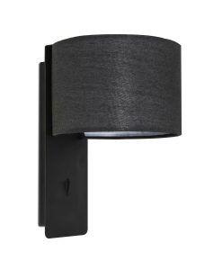 Aplique dormitorio color negro FOLD