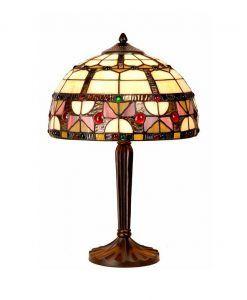Lámpara mesa artesanal Ø 30 cm VIDRIERA