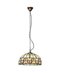 Lámpara tiffany artesanal Ø 40 cm VIDRIERA
