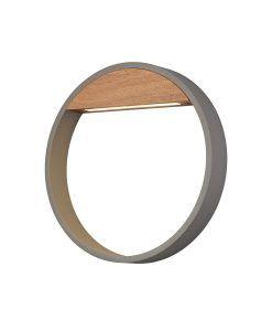 Aplique 10W gris y madera Ø 22 cm CYCLE LED