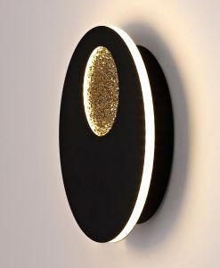 Aplique dorado y negro 18W Ø 23 cm JUPITER LED