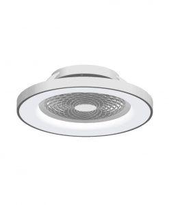 Plafón inteligente y ventilador plata Ø 65 cm TIBET