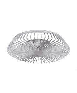 Plafón ventilador plata inteligente Ø 63 cm HIMALAYA LED