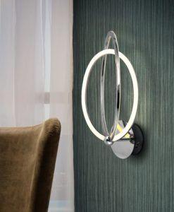 Aplique cromo OCELLIS LED