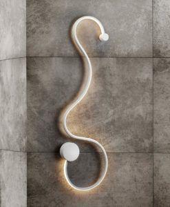 Aplique pared LED de diseño blanco GRAFOS