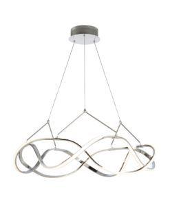 Lámpara 80 cm Ø cromo MOLLY LED