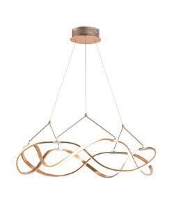 Lámpara 80 cm Ø oro rosa MOLLY LED