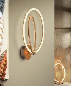 Lámpara aplique oro rosa OCELLIS LED